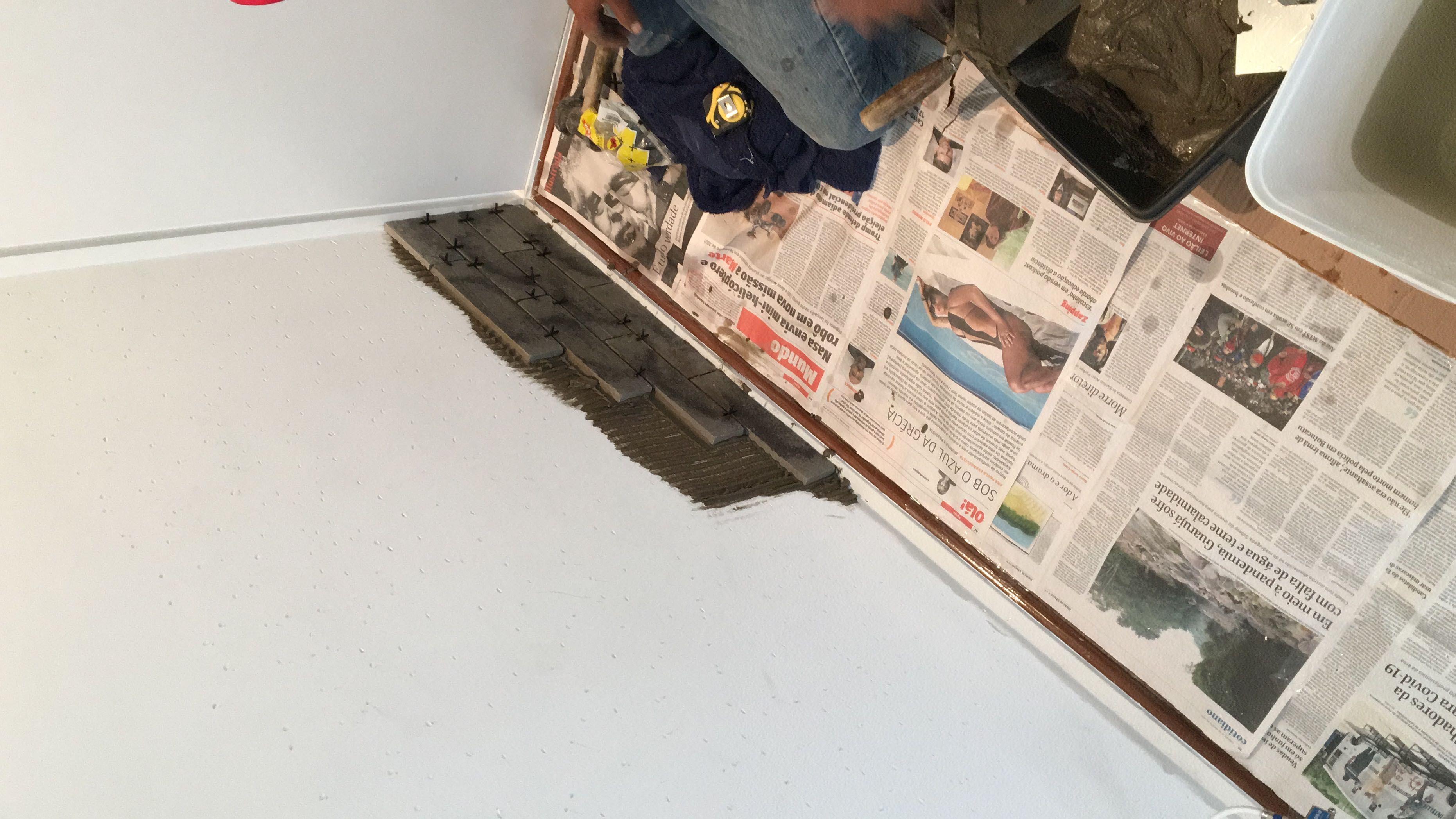 Revestimento de parede bloco rústico