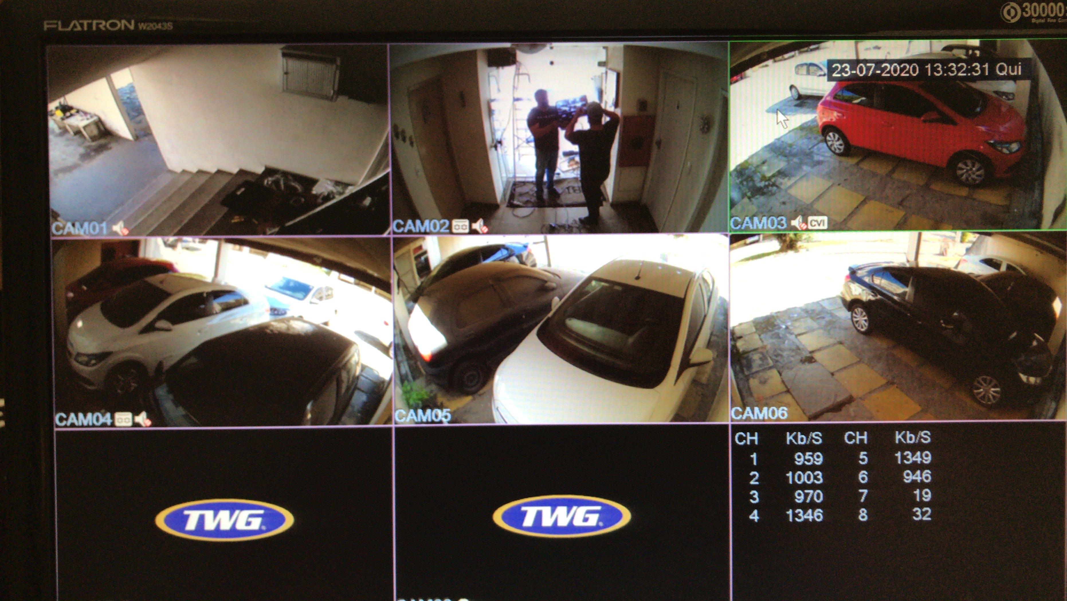Serviço executado 6 câmeras HD