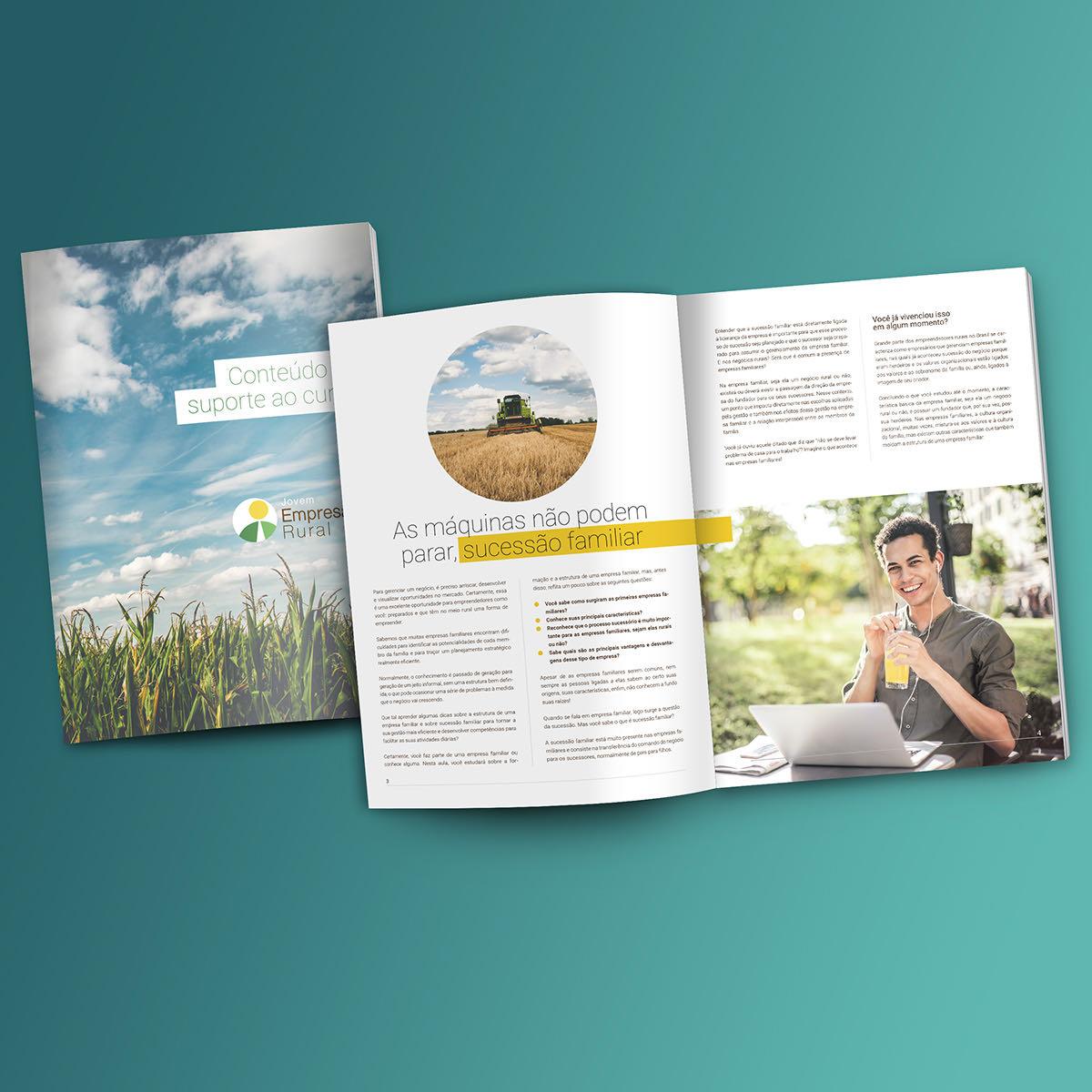 Diagramação e projeto gráfico de revista.