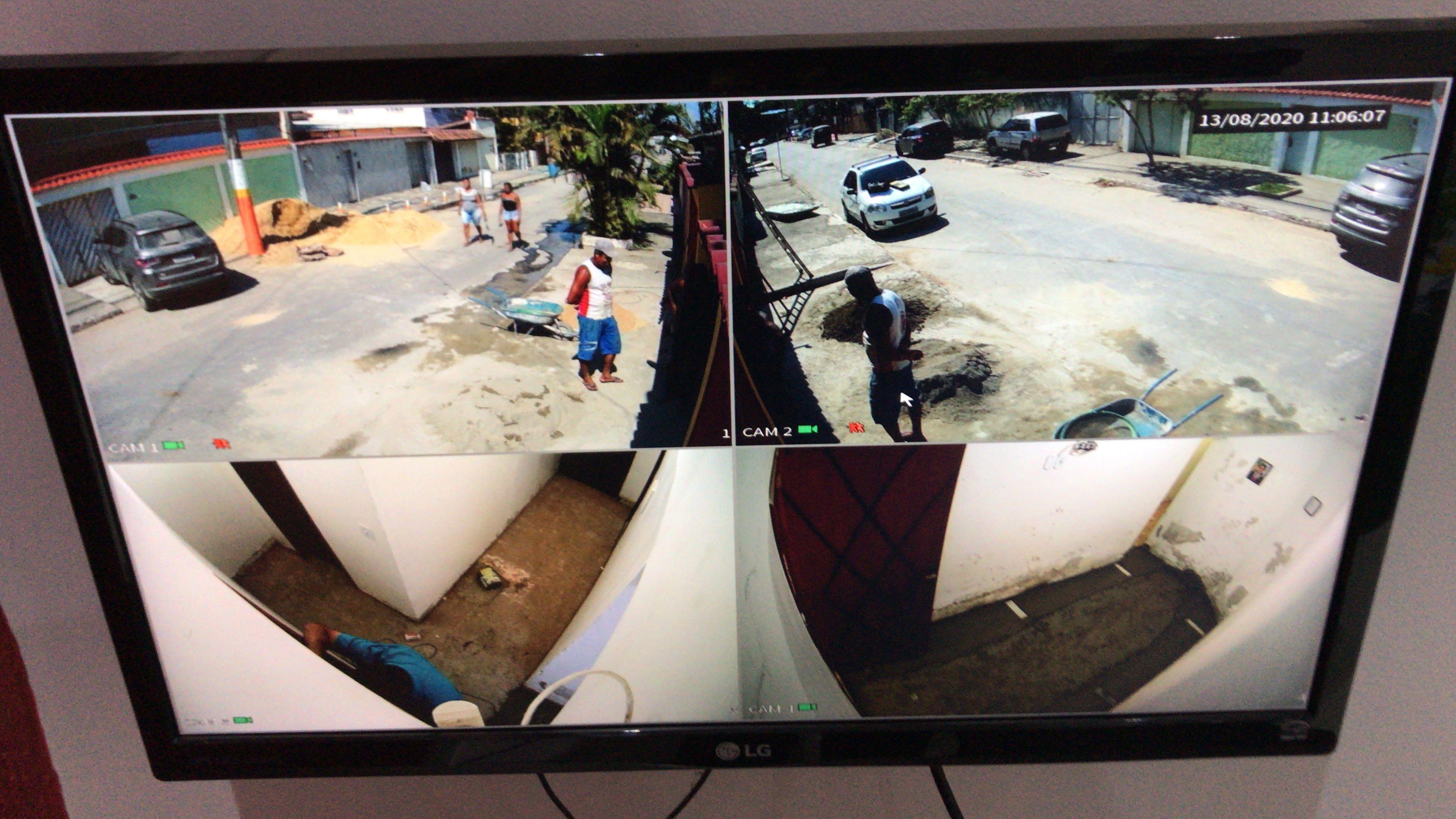 Instalação câmera 4 mega ideal visualizar placa