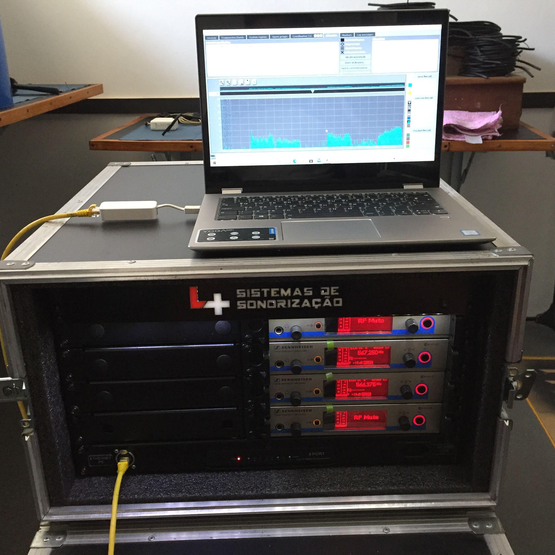 Coordenação de frequências de sistemas de sem fio