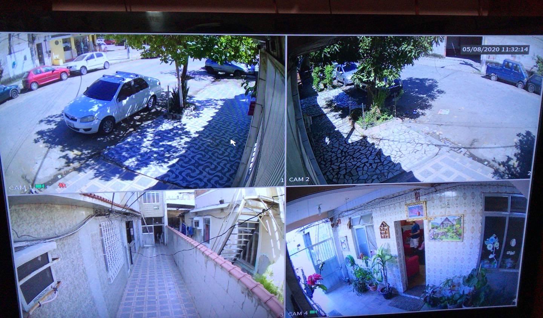 Serviço executado 4 câmeras HD