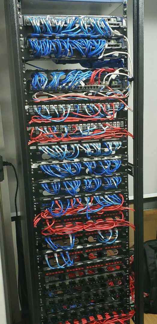 organização de rack