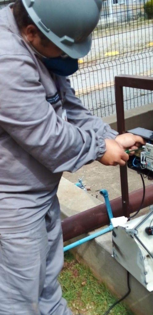 Montagem de comando elétrico