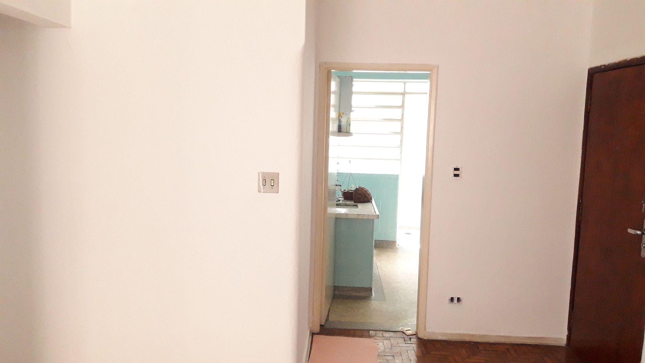 Pintura Sala de apartamento cor rosa (Depois)