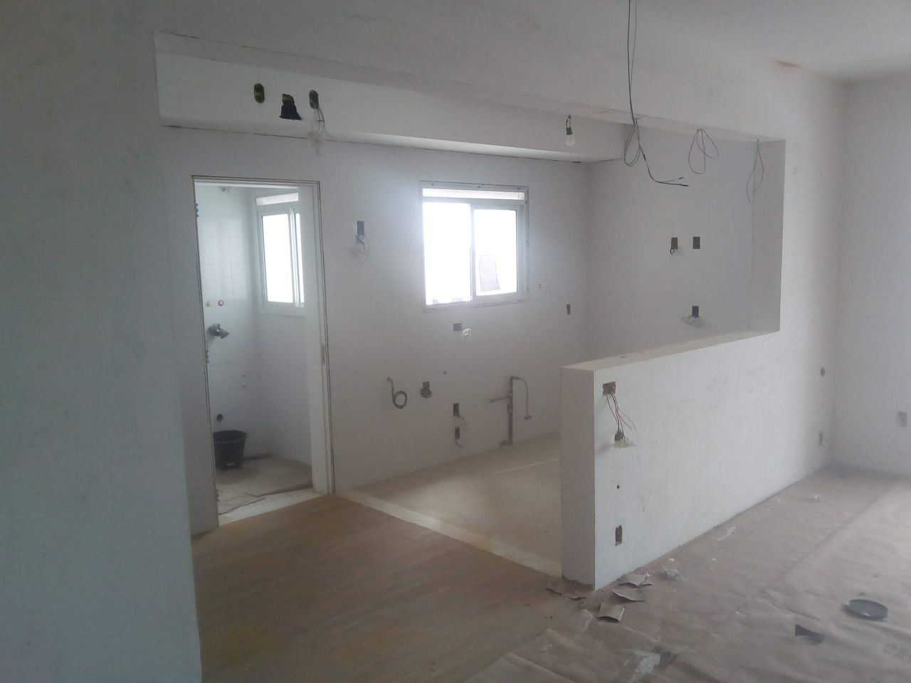 Sala apartamento sendo finalizada
