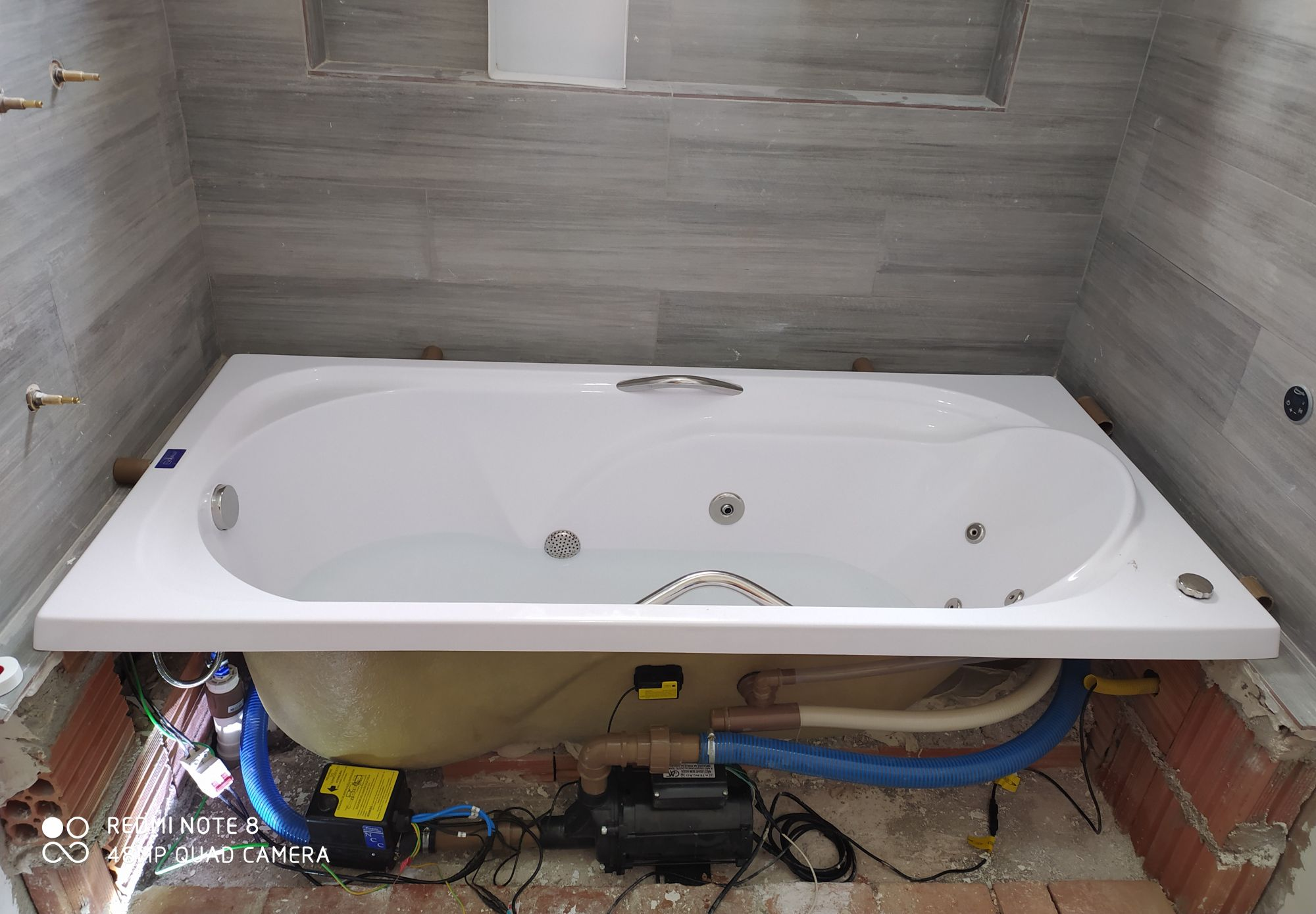 instalação de banheira