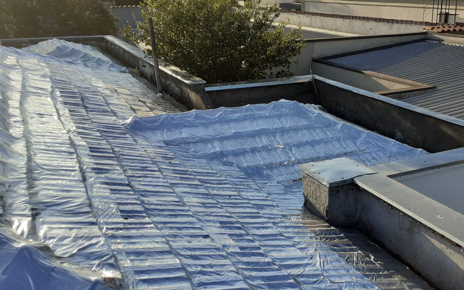 manta em telhado