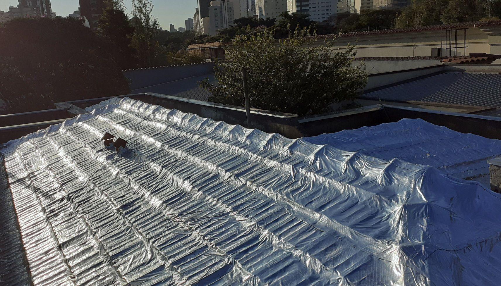 manta telhado
