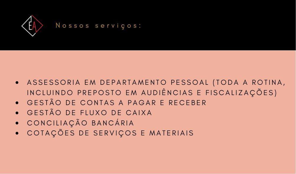Cartão de visitas / serviços oferecidos