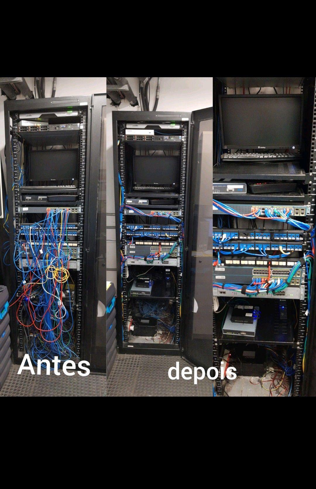 organização do rack