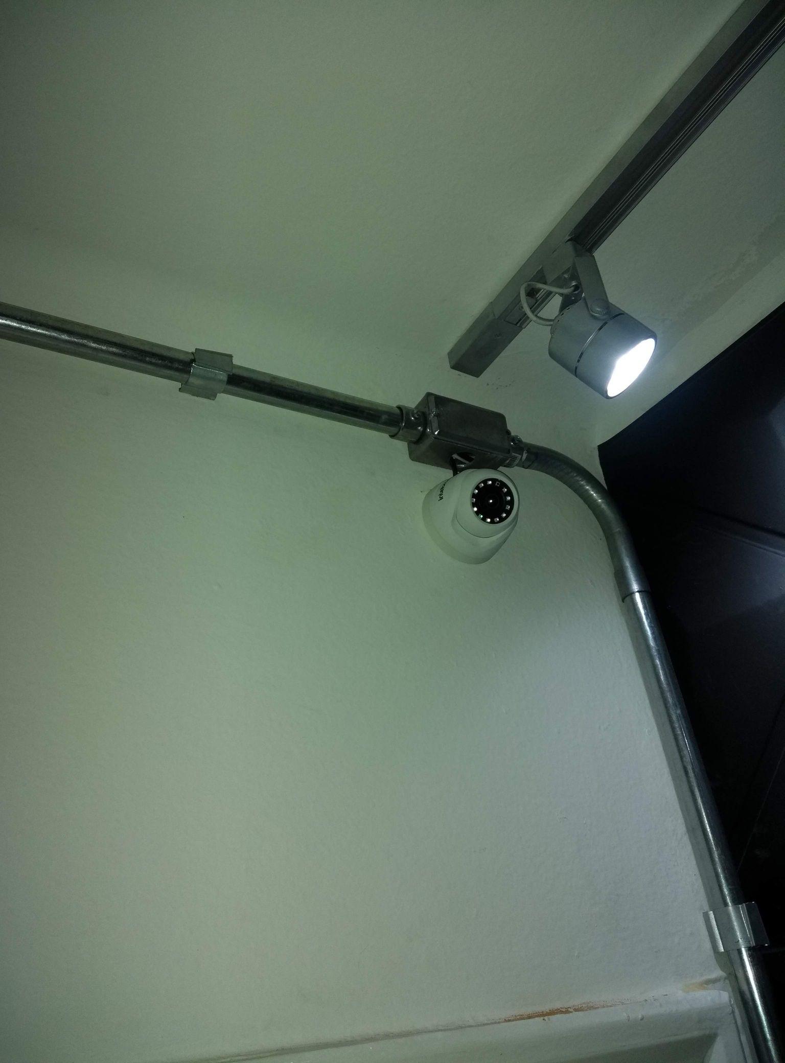 Câmera já instalada