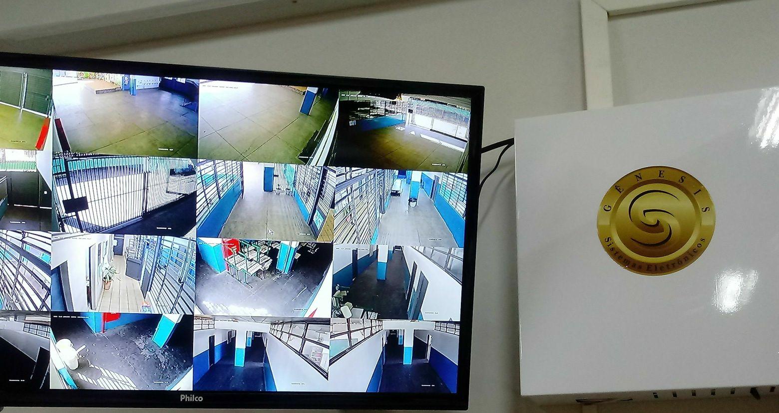 instalação e configuração de sistema de cameras