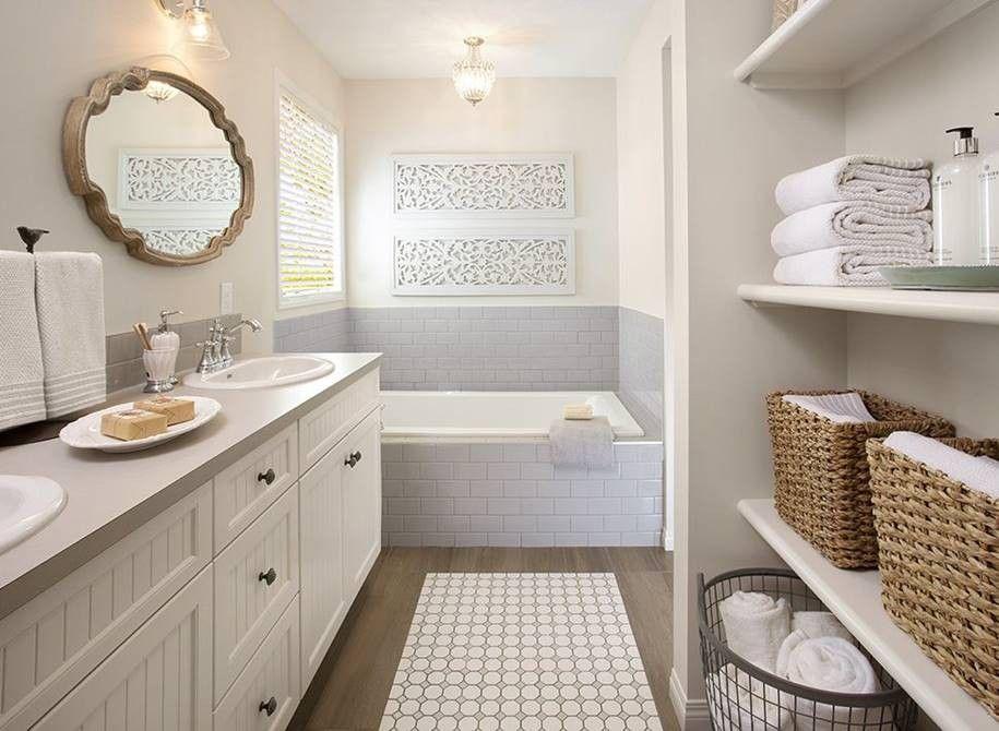 banheiro limpo e organizado
