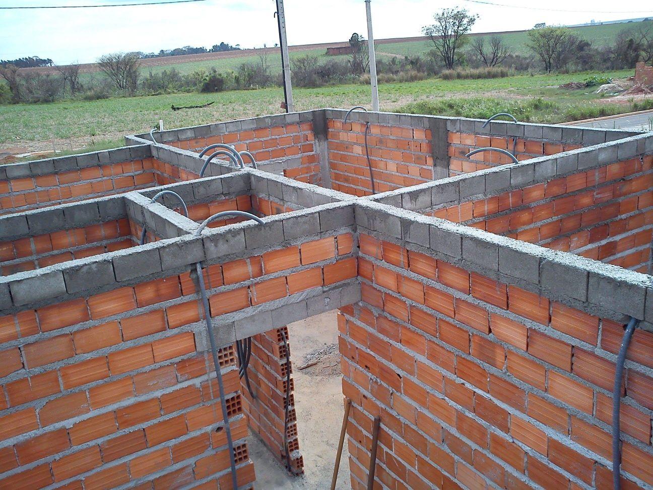 Levantando paredes e fazendo fundação.