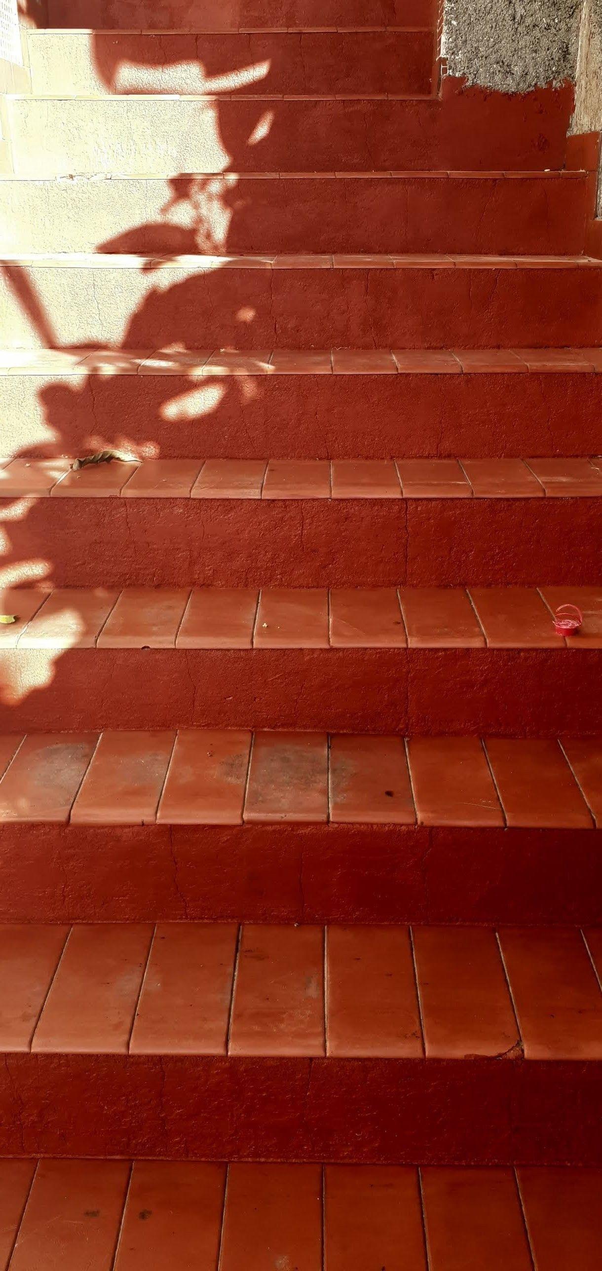 Escada restaurada.