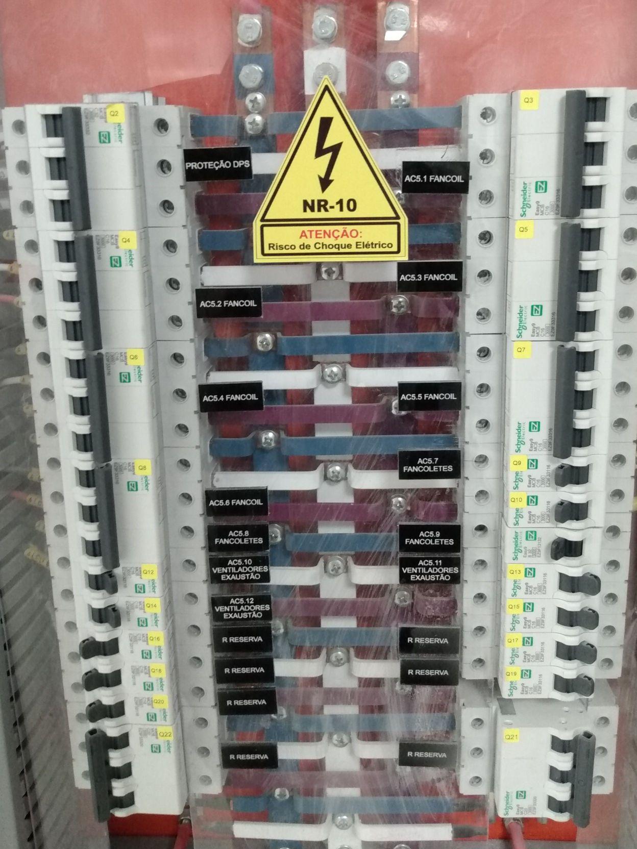 manutenções em quadros elétricos