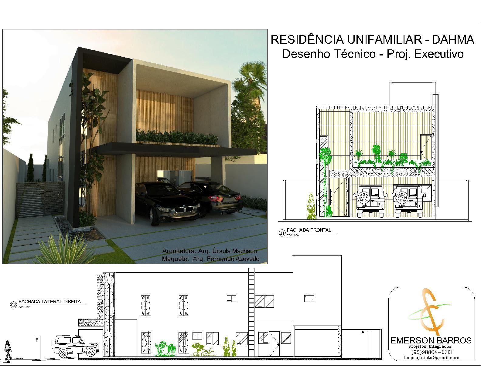 Residência Unifamiliar - Proj. Exec. Arquitetura