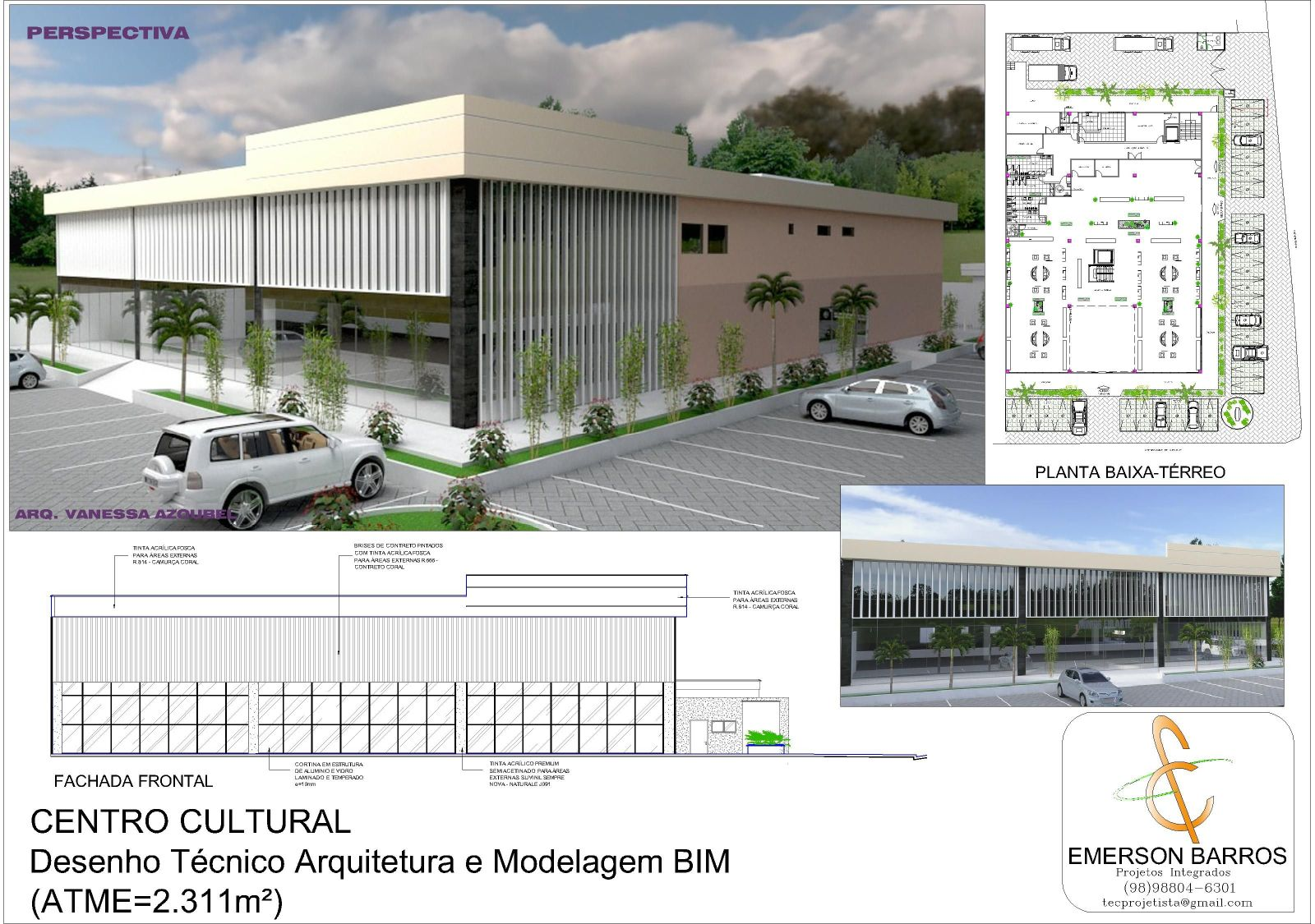 Centro Cultural - Proj. Arquitetura