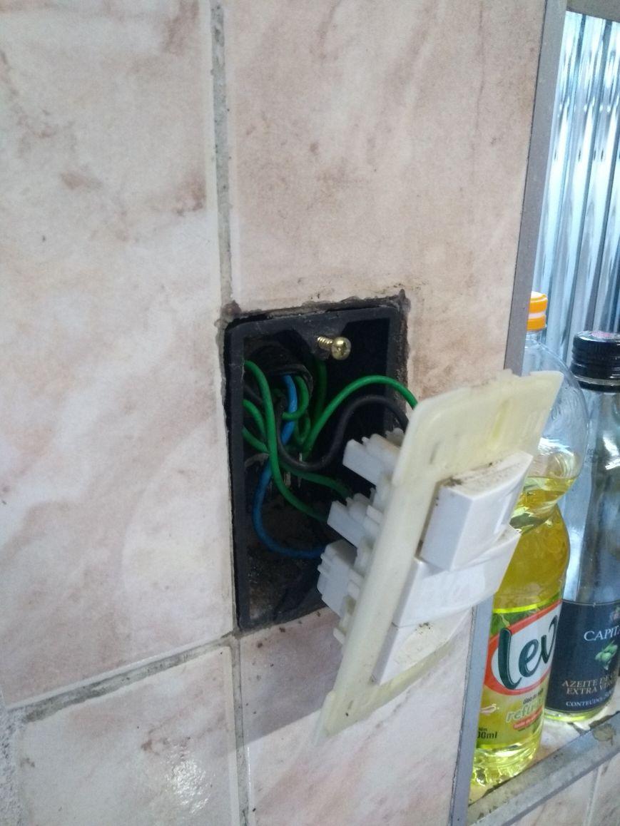 substituição de interruptor com defeito