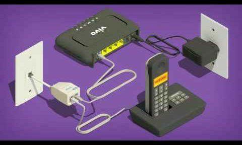Instalação De linhas telefônicas.