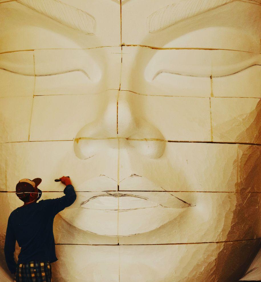 aula prática de desenho e escultura gigante