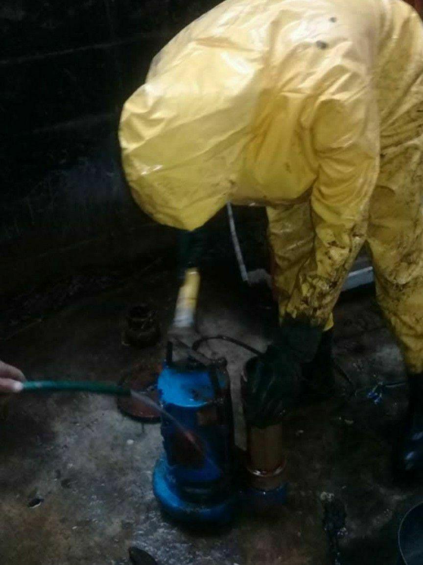 manutenção Bomba de poço fecal