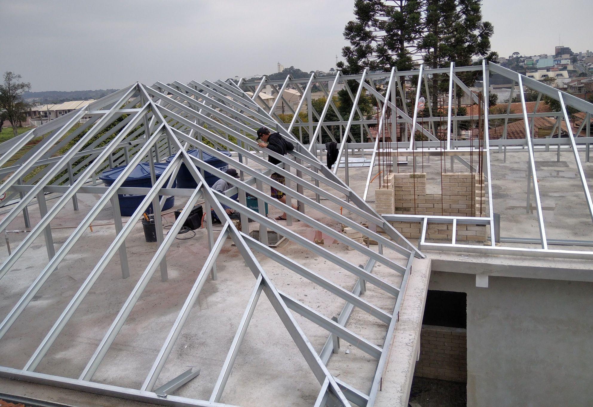 estrutura em steel framing