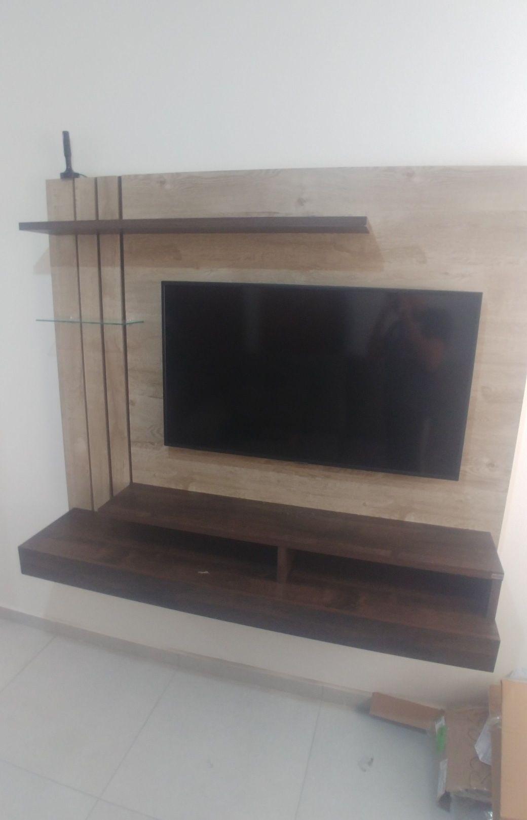 painel e instalação da TV