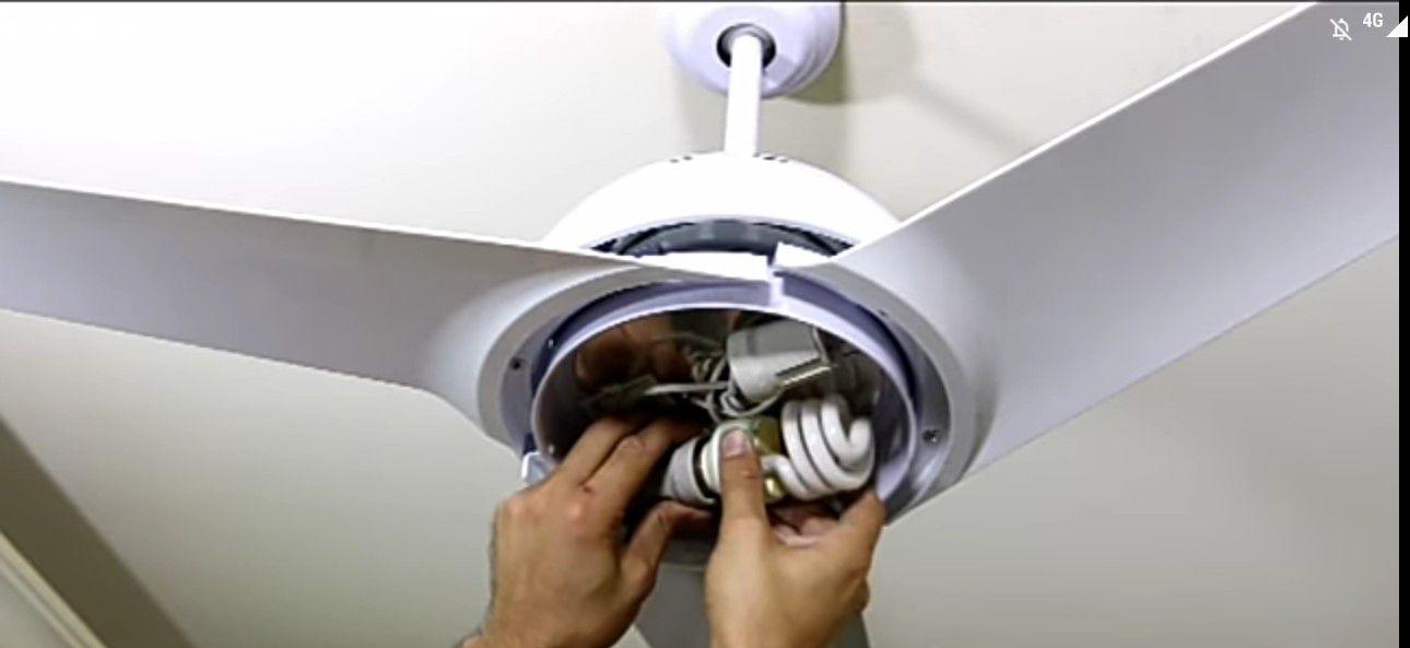 instalação ventilador de teto!