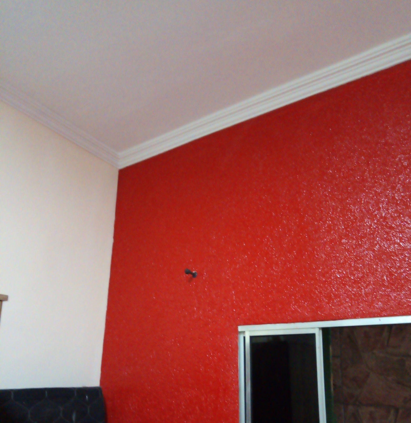 Gráfiato + pintura teto e paredes