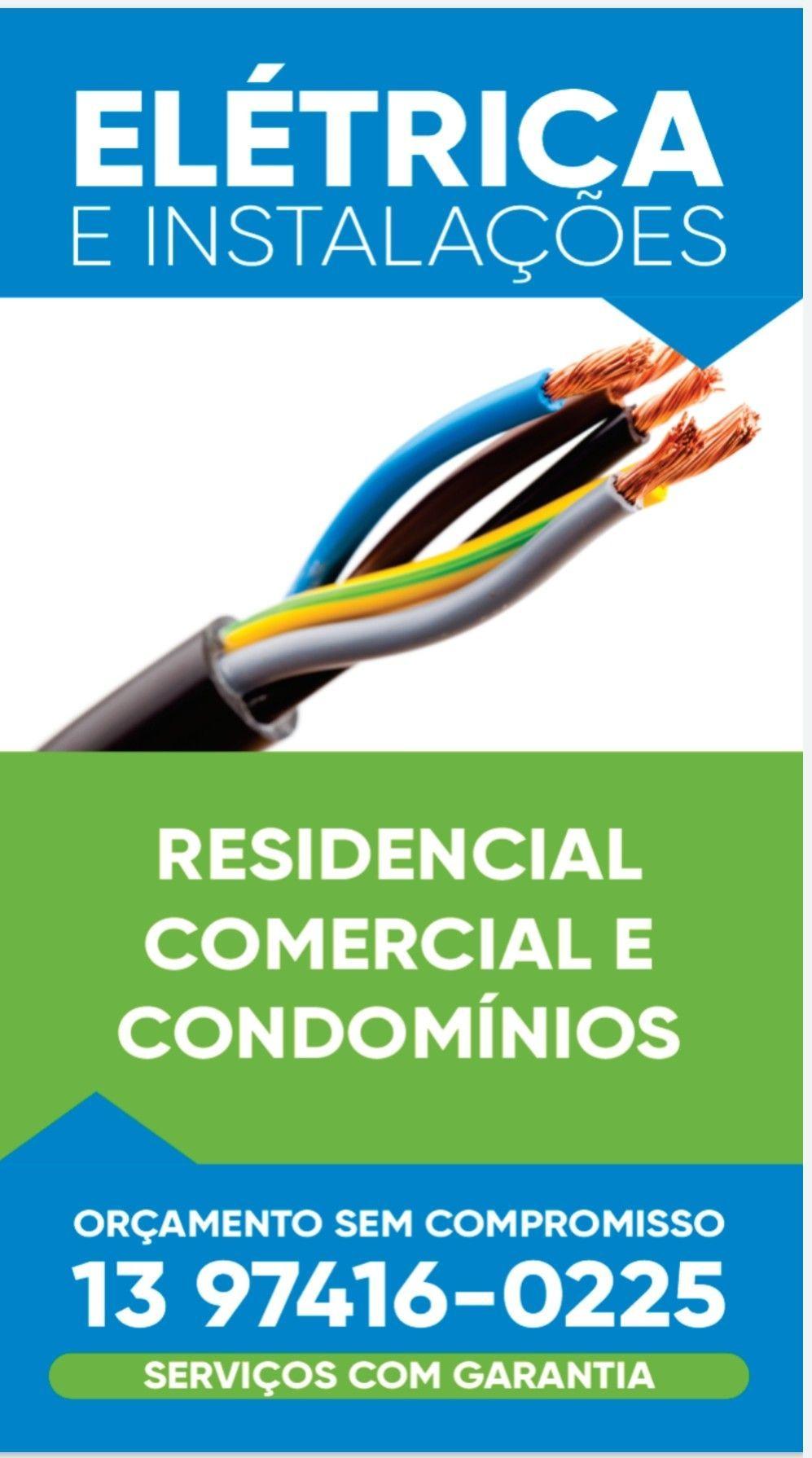 Instalações e manutenções elétricas em geral
