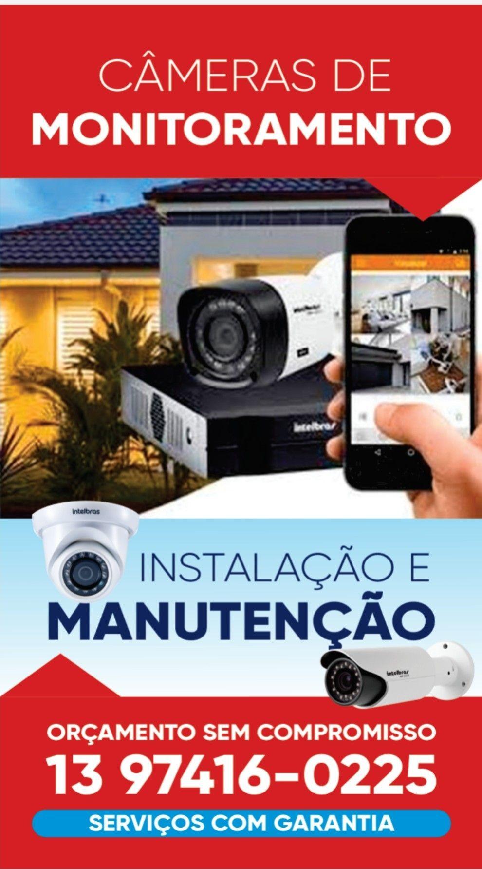 Instalação e manutenção em câmeras de segurança