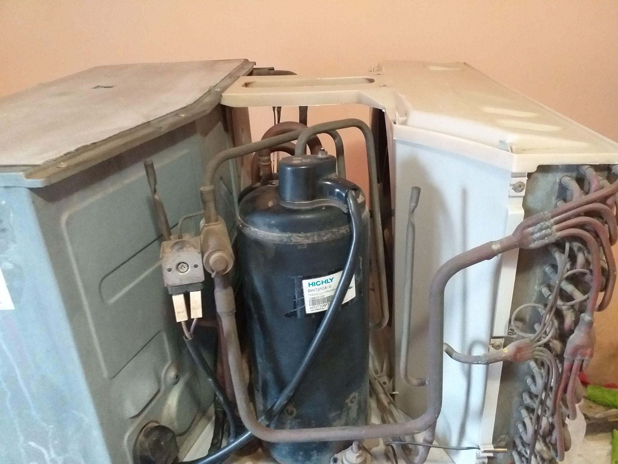 Manutenção em Condicionador de Ar ACJ, ficou top.