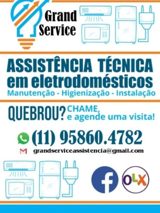 Manutenção em eletrodomésticos Grand Service.