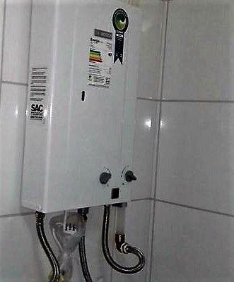 Instalação de aquecedor de água sistema aberto