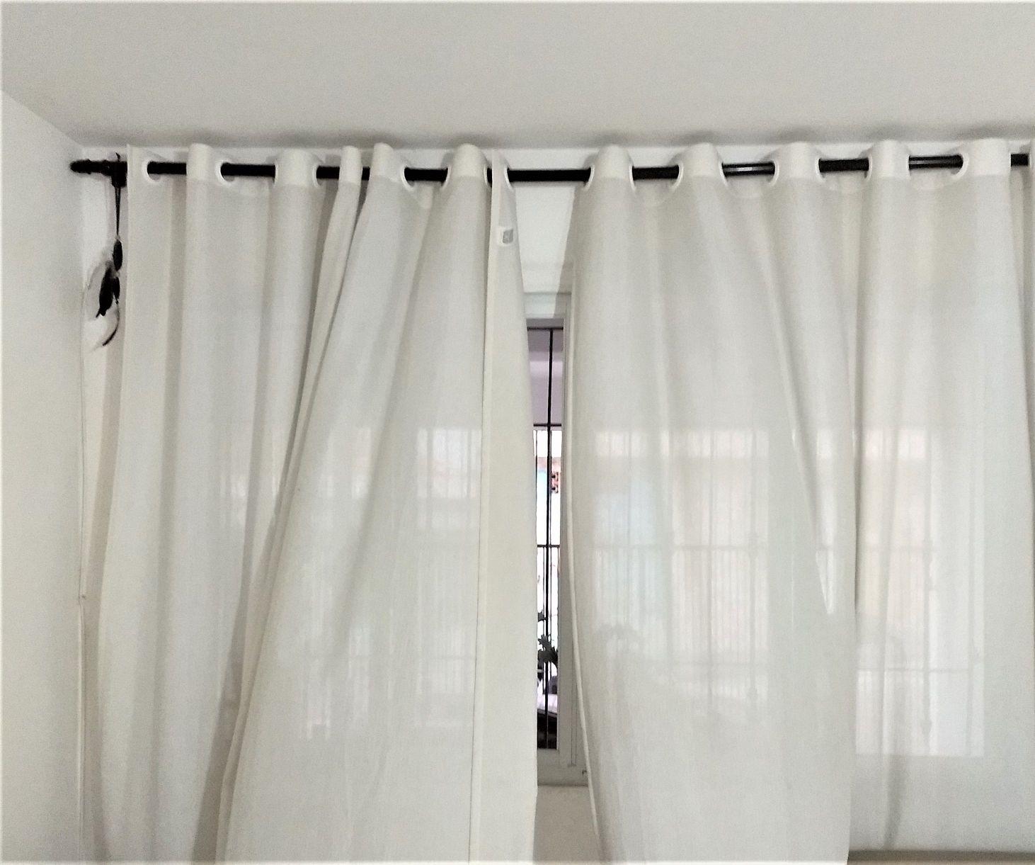 instalação de cortina de sala com varão
