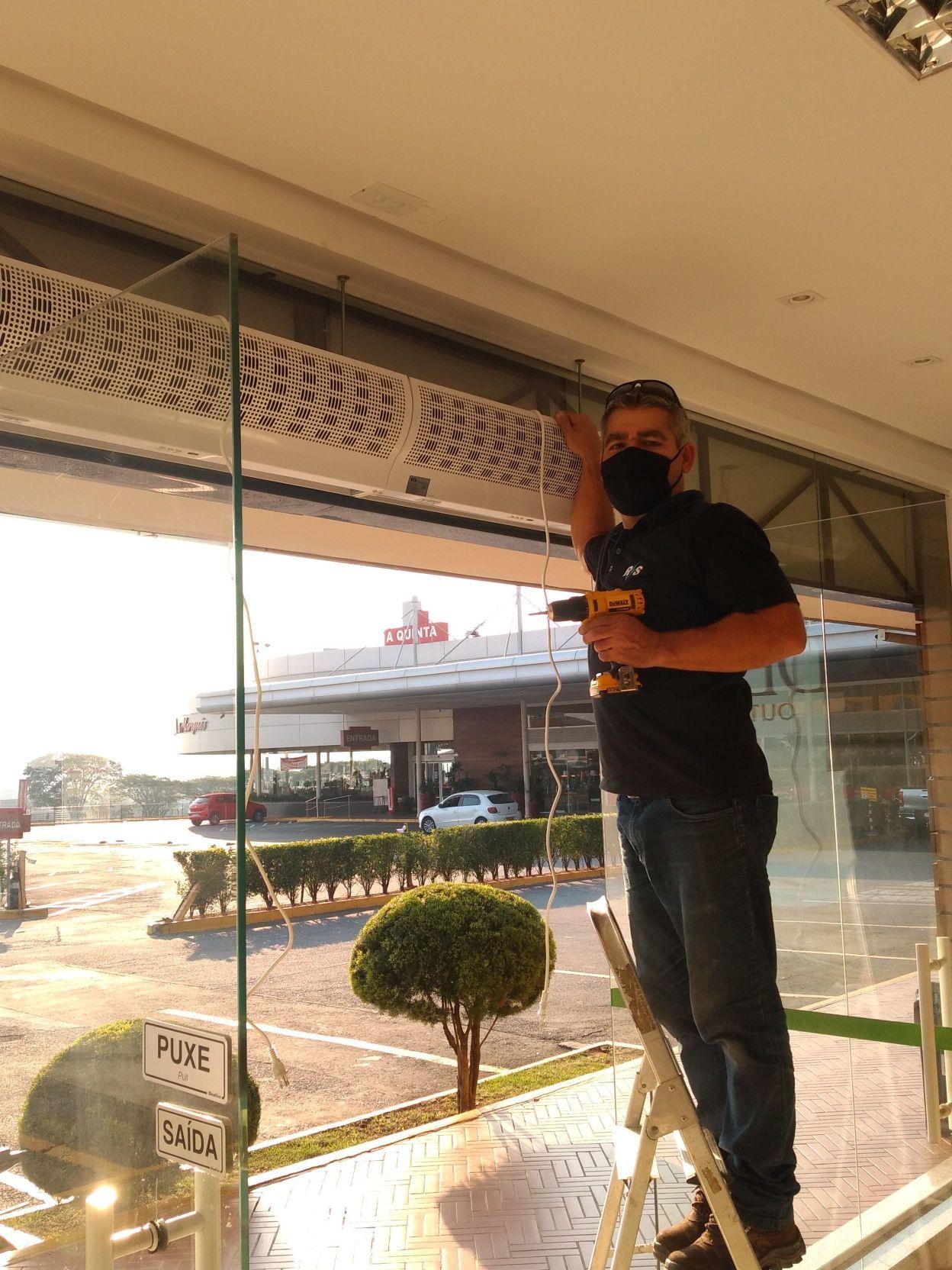 #24 instalação de cortina de ar