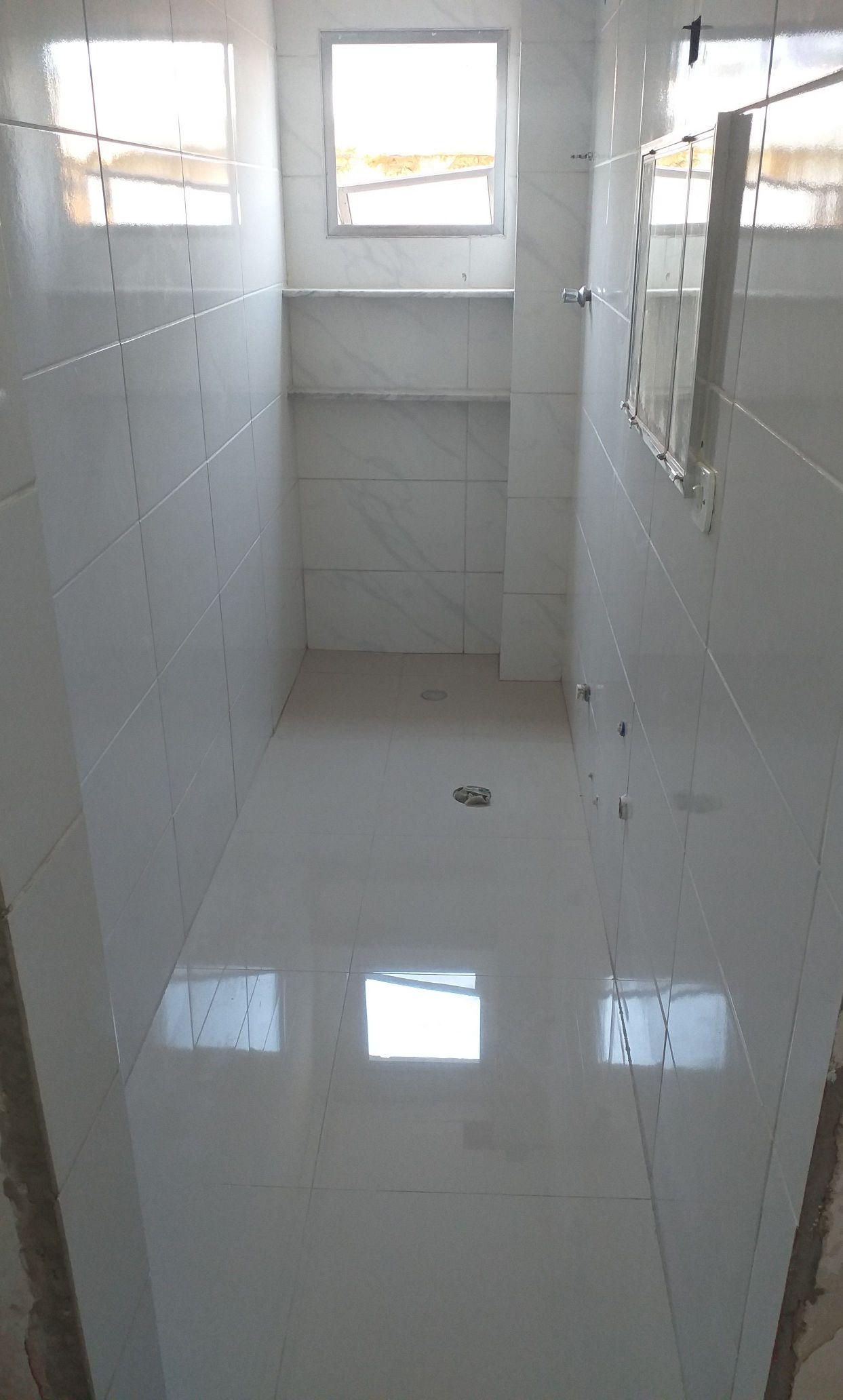 Reforma de banheiro.