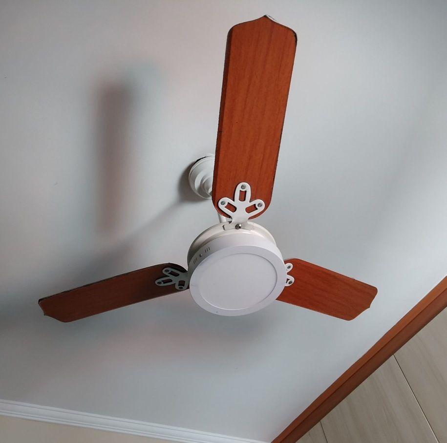 instalação de plafon de led no ventilador