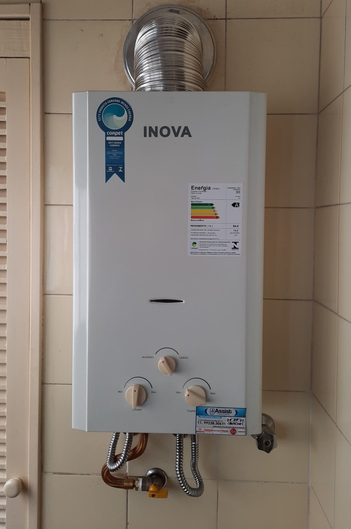 Manutenção aquecedor Inova