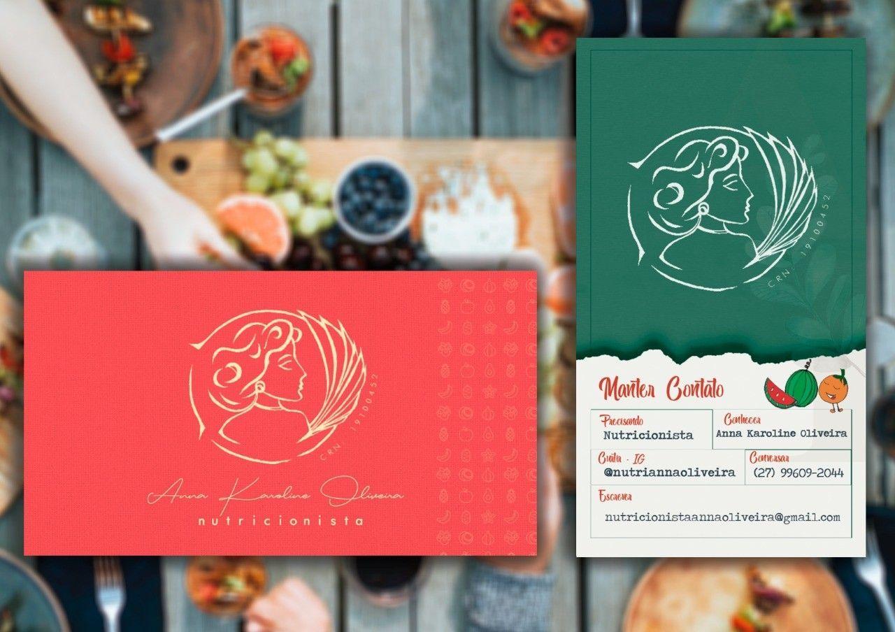 cartão de visitas - nutricionista