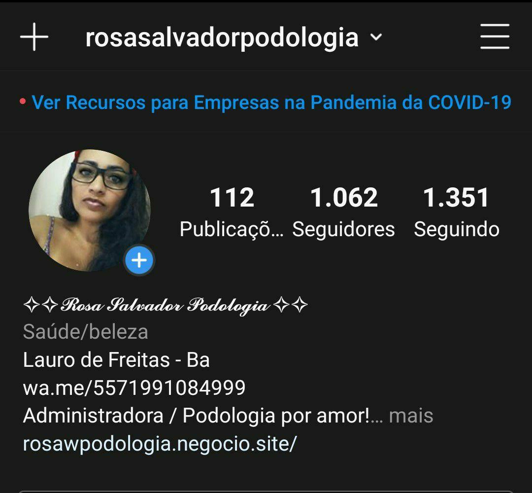 Perfil Instagram @rosasalvadorpodologia