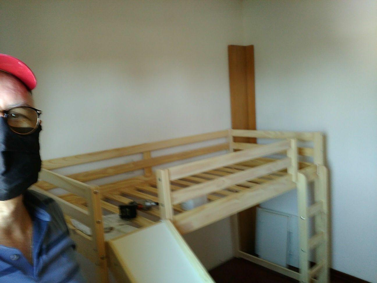 cama com escada