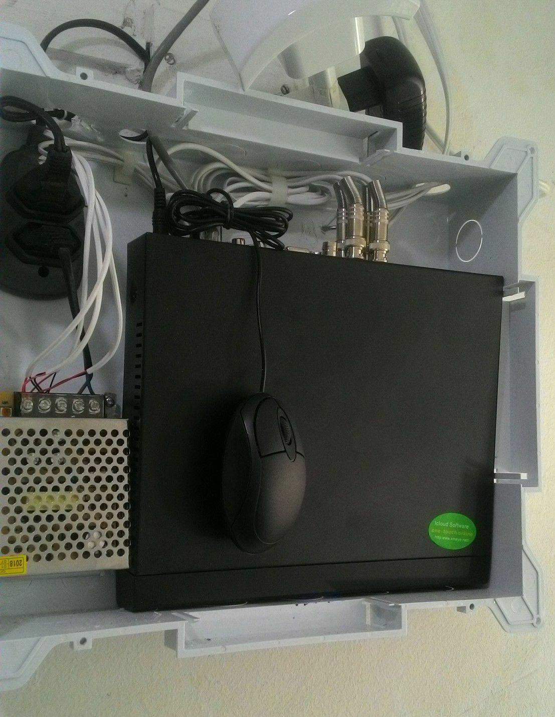 DVR na caixa de proteção