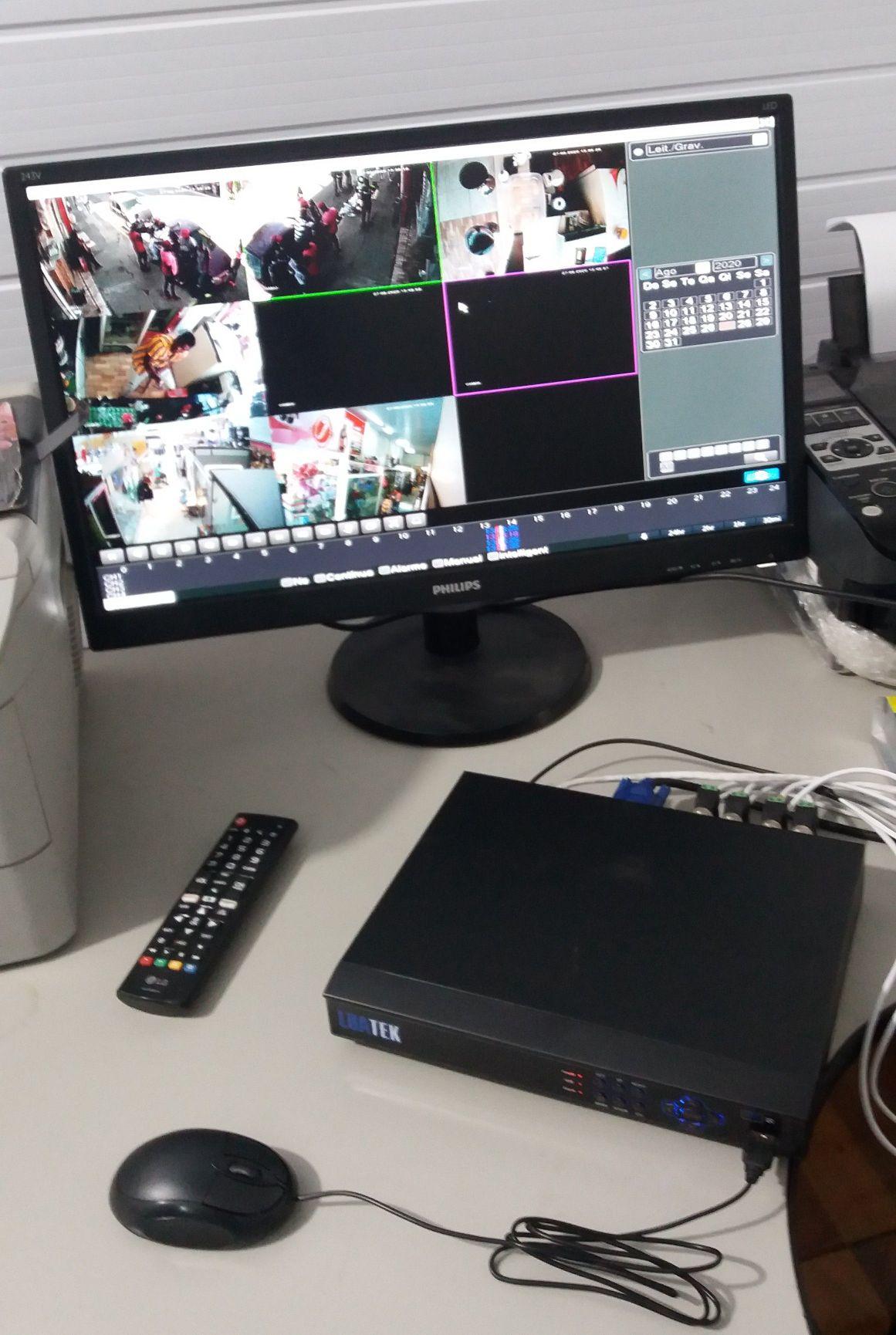 Sistema de Segurança c/ 8 câmeras.