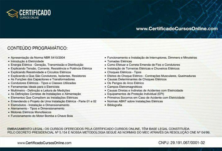 Certificado eletricista.(verso)