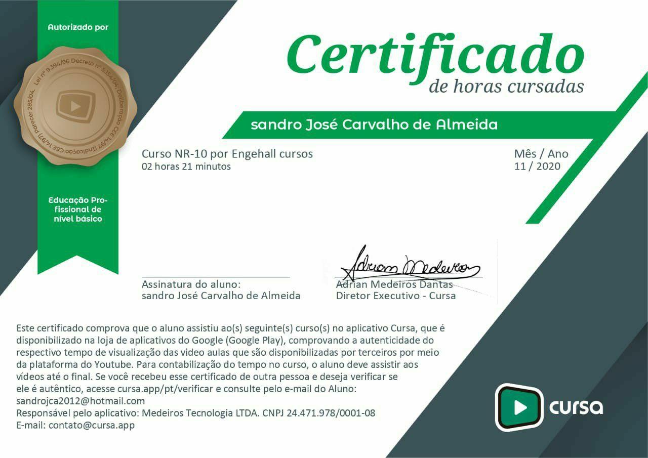Certificado NR 10