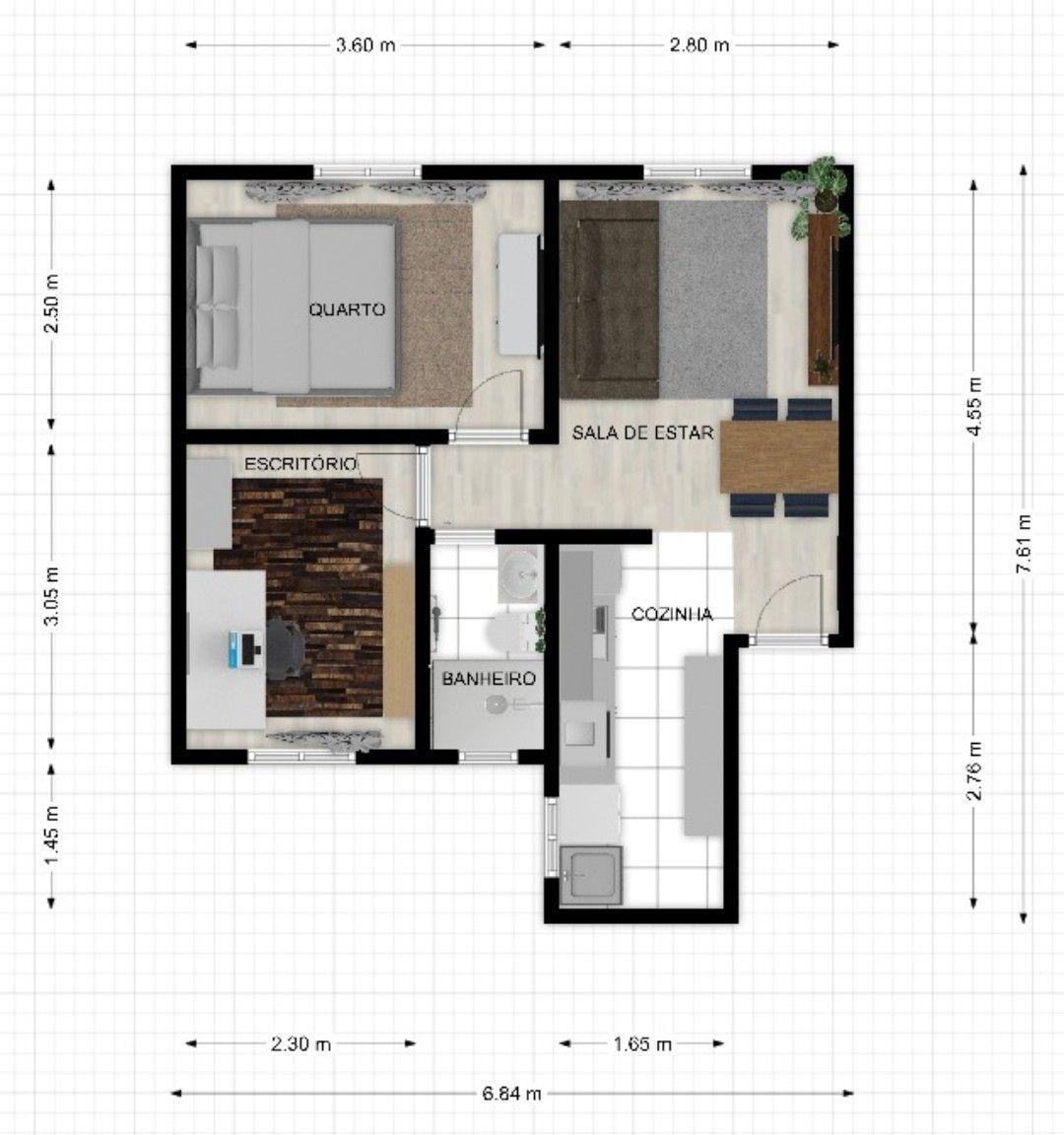 projeto apartamento padrão