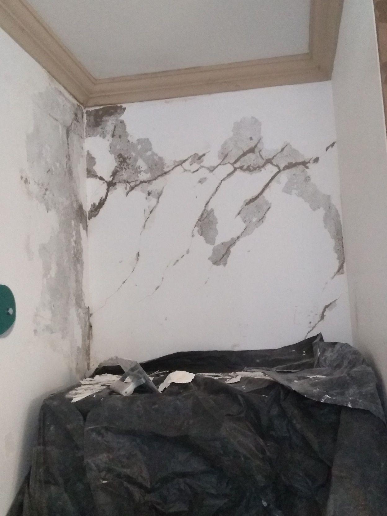 desplacamento da tinta na parede
